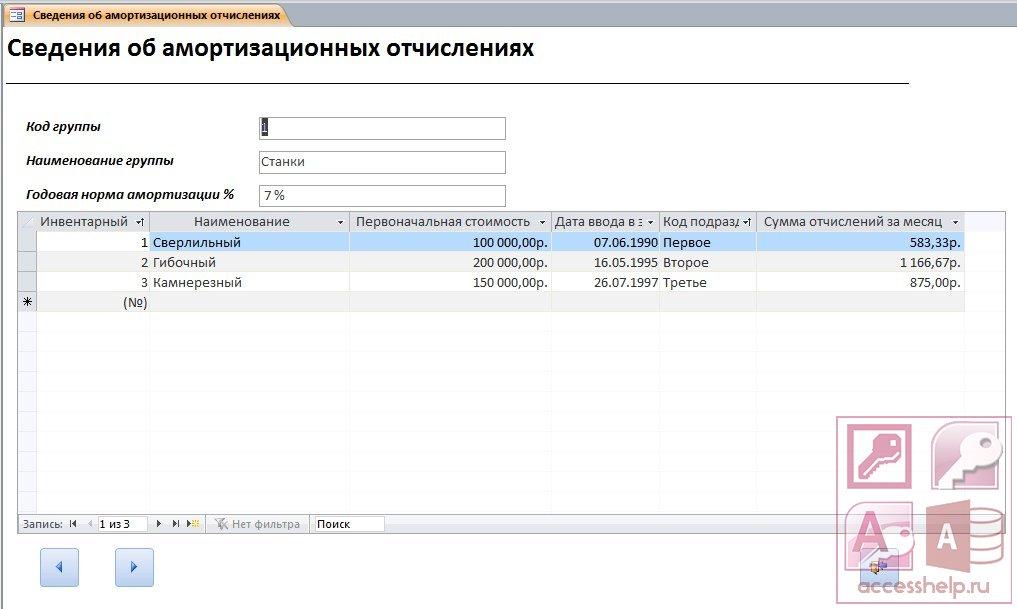 база данных страховая компания access 97