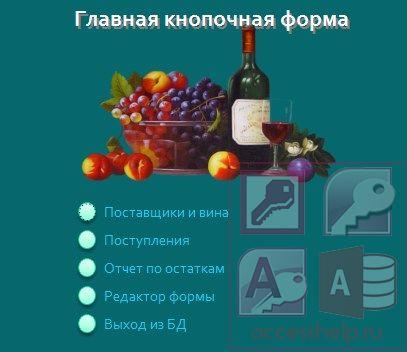 База данных access Продажа вина Базы данных access База данных access Продажа вина